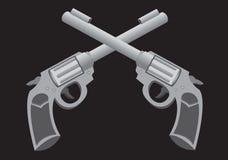 Διασχισμένη διανυσματική απεικόνιση πυροβόλων όπλων Στοκ φωτογραφία με δικαίωμα ελεύθερης χρήσης