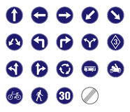 Διαταγμένο εικονίδιο σημαδιών κυκλοφορίας Στοκ Εικόνα