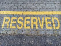 διατηρημένο σημάδι Στοκ εικόνα με δικαίωμα ελεύθερης χρήσης