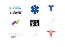 Ιατρικά εικονίδια Στοκ Εικόνες
