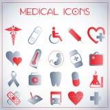 Ιατρικά εικονίδια Στοκ Φωτογραφίες