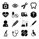 Ιατρικά εικονίδια καθορισμένα Στοκ Εικόνες