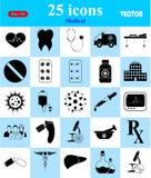 Ιατρικά εικονίδια που τίθενται για τον Ιστό και κινητά Στοκ εικόνες με δικαίωμα ελεύθερης χρήσης