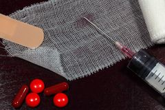 ιατρικά εργαλεία βελόνων εγχύσεων έννοιας Στοκ φωτογραφία με δικαίωμα ελεύθερης χρήσης