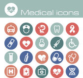 Ιατρικά διανυσματικά εικονίδια καθορισμένα Στοκ φωτογραφία με δικαίωμα ελεύθερης χρήσης