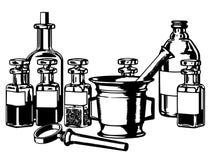Ιατρικά μπουκάλια Στοκ φωτογραφία με δικαίωμα ελεύθερης χρήσης