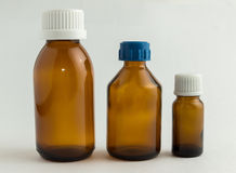 Ιατρικά μπουκάλια Στοκ Φωτογραφίες