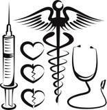 ιατρικά σημάδια συνόλου Στοκ Εικόνες