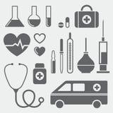 Ιατρικά σύμβολα Στοκ εικόνα με δικαίωμα ελεύθερης χρήσης