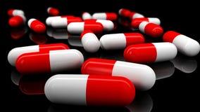ιατρικά χάπια Βάθος του τομέα στο πίσω μέρος μιας περσικής λεπτομέρειας ταπήτων Στοκ φωτογραφία με δικαίωμα ελεύθερης χρήσης