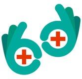 Ιατρικά χέρια Στοκ εικόνα με δικαίωμα ελεύθερης χρήσης