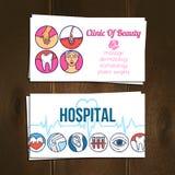 Ιατρικές κάρτες καθορισμένες Στοκ φωτογραφία με δικαίωμα ελεύθερης χρήσης