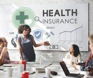 Ιατρική έννοια ασφάλειας κινδύνου διαβεβαίωσης ασφάλειας υγείας στοκ εικόνες