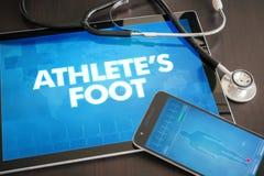 Ιατρική έννοια διαγνώσεων ποδιών αθλητή (μολυσματική ασθένεια) Στοκ Εικόνες