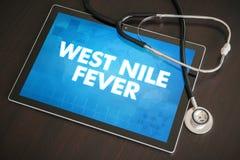 Ιατρική έννοια διαγνώσεων πυρετού του δυτικού Νείλου (μολυσματική ασθένεια) Στοκ Εικόνες