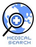 Ιατρική αναζήτηση εικονιδίων Στοκ φωτογραφία με δικαίωμα ελεύθερης χρήσης
