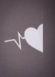 Ιατρική ανασκόπηση, αποκοπή εγγράφου της καρδιάς και γραφική παράσταση σφυγμού Στοκ Εικόνα