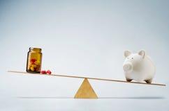 Ιατρική δαπάνες ή έννοια ασφαλιστικών κεφαλαίων Στοκ Φωτογραφίες