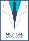Ιατρική αφίσα, έννοια, υπόβαθρο Επίπεδο σχέδιο Στοκ εικόνα με δικαίωμα ελεύθερης χρήσης