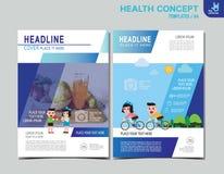 Ιατρική διανυσματική infographic απεικόνιση σχεδίου στοιχείων υγείας διανυσματική απεικόνιση