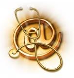 ιατρική Διαδικτύου υγεί& Στοκ Φωτογραφίες