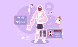 Ιατρική εξέταση του σώματος διανυσματική απεικόνιση