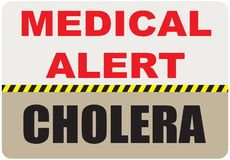 Ιατρική επιφυλακή σημαδιών - χολέρα ελεύθερη απεικόνιση δικαιώματος