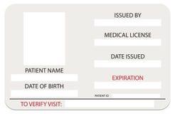Ιατρική κάρτα αδειών ελεύθερη απεικόνιση δικαιώματος