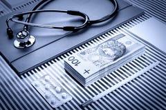Ιατρική και χρηματοδότηση Στοκ εικόνα με δικαίωμα ελεύθερης χρήσης