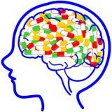 Ιατρική κατάχρηση ναρκωτικών ουσιών στο διάνυσμα παιδιών Στοκ Εικόνα