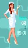 ιατρική νοσοκόμα διανυσματική απεικόνιση