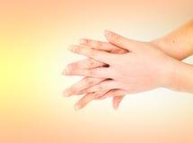 Ιατρική σειρά χειρονομίας χεριών πλυσίματος Στοκ Φωτογραφία