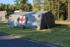 Ιατρική σκηνή στρατού Στοκ φωτογραφία με δικαίωμα ελεύθερης χρήσης