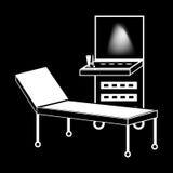 Ιατρική σκιαγραφία τεχνολογίας μηχανών υπερήχου διανυσματική απεικόνιση