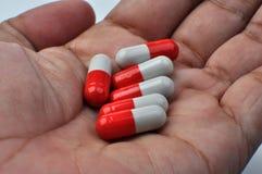 Ιατρική φαρμάκων χαπιών καψών Στοκ Εικόνα