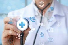 Ιατρική φροντίδα εικονιδίων γιατρών Στοκ φωτογραφίες με δικαίωμα ελεύθερης χρήσης