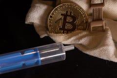 Ιατρική φροντίδα bitcoin στοκ εικόνες με δικαίωμα ελεύθερης χρήσης