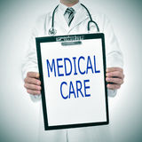 Ιατρική φροντίδα Στοκ φωτογραφία με δικαίωμα ελεύθερης χρήσης