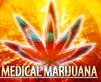 Ιατρική ψηφιακή απεικόνιση έννοιας μαριχουάνα αφηρημένη Στοκ εικόνες με δικαίωμα ελεύθερης χρήσης