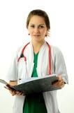 ιατρική όμορφη γυναίκα Στοκ Εικόνα