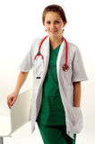 ιατρική όμορφη γυναίκα Στοκ εικόνα με δικαίωμα ελεύθερης χρήσης