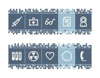 ιατρική 2 εικονιδίων ράβδων απεικόνιση αποθεμάτων