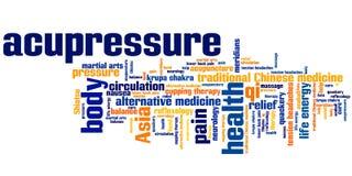 Ιατρική Acupressure διανυσματική απεικόνιση