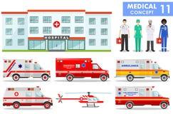 ΙΑΤΡΙΚΗ έννοια Λεπτομερής απεικόνιση του νοσοκομείου Στοκ εικόνες με δικαίωμα ελεύθερης χρήσης