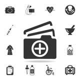 Ιατρικός αποτύχετε το εικονίδιο εγγράφων Λεπτομερές σύνολο απεικόνισης στοιχείων ιατρικής Γραφικό σχέδιο εξαιρετικής ποιότητας Μι Στοκ Εικόνες
