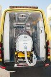 Ιατρικός εξοπλισμός για την πανδημία ebola ή ιών Στοκ εικόνα με δικαίωμα ελεύθερης χρήσης