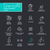 Ιατρικός εξοπλισμός - εικονογράμματα σχεδίου γραμμών καθορισμένα απεικόνιση αποθεμάτων