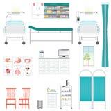 Ιατρικός εξοπλισμός και έπιπλα στο νοσοκομείο ελεύθερη απεικόνιση δικαιώματος