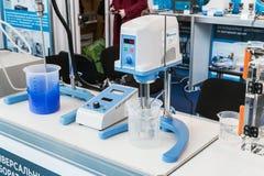 Ιατρικός και εργαστηριακός εξοπλισμός στην έκθεση Στοκ Εικόνες