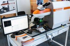 Ιατρικός και εργαστηριακός εξοπλισμός στην έκθεση Στοκ εικόνα με δικαίωμα ελεύθερης χρήσης